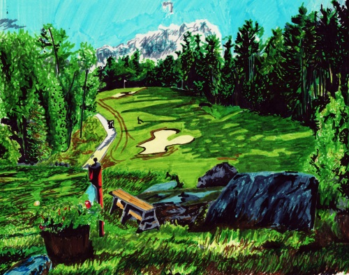 Golf course artwork